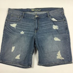 Old Navy Boyfriend Distressed Shorts Womens 16